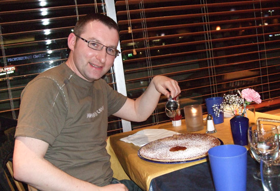 mike at dedutch on pancake day