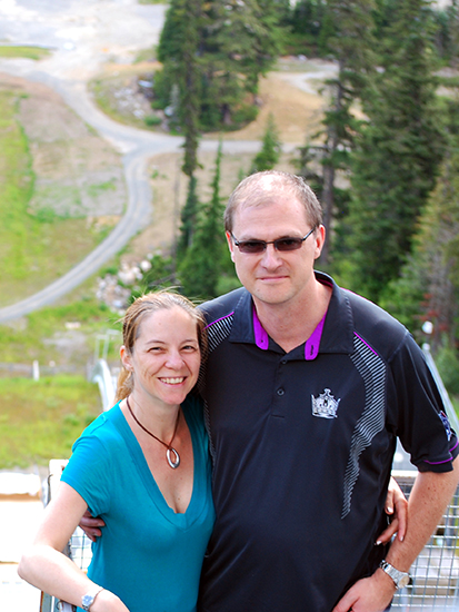 At the top of the Whistler Ski Jumps